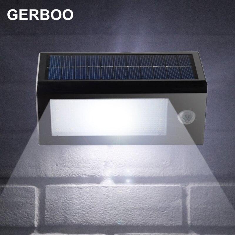 Solar PIR Motion Sensor Lights Outdoor Lamp Garden Lights Super Brightness 400lm Solar Powered Panel LED Wall Lamps Street Light