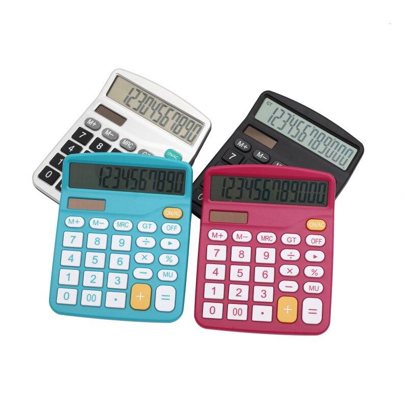 Прямая доставка большой Дисплей 12 цифр Солнечный Калькулятор офис электронный канцелярские финансов Calculadora для школы домой