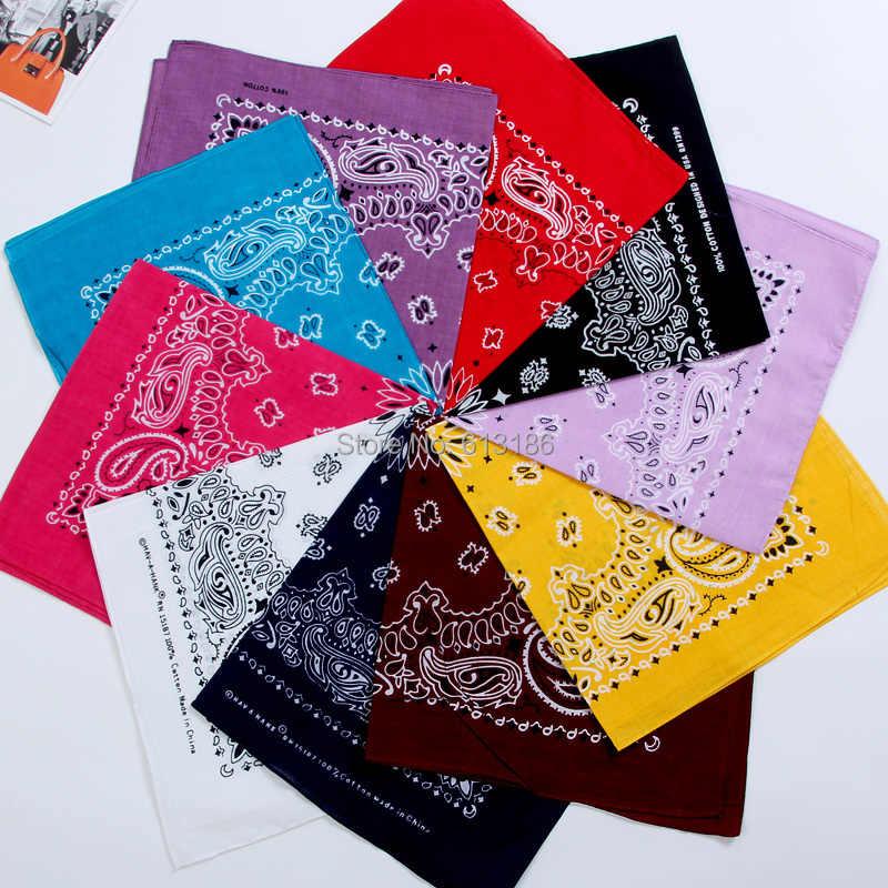FOXMOTHER Novo Hip Hop 100% Algodão 55cm * 55cm Preto Vermelho Paisley Bandanas Impressos Para Mulheres/Homens /meninos/Meninas
