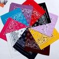 FOXMOTHER nuevo Hip Hop 100% algodón 55cm * 55cm negro rojo Paisley pañuelos impresos para mujeres/hombres/niños/niñas