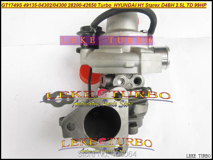 GT1749S 49135-04300 49135-04302 49135 04300 28200-42650 28200 42650 Turbo Turbocharger For Hyundai H1 Starex D4BH 2.5L TD 99HP  цены