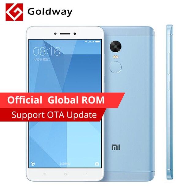 """Оригинальный Xiaomi Redmi Note 4X Pro премьер мобильный телефон 4 ГБ ОЗУ 64 ГБ ROM Snapdragon 625 Octa Core 5.5 """"FHD 4100 мАч отпечатков пальцев ID"""
