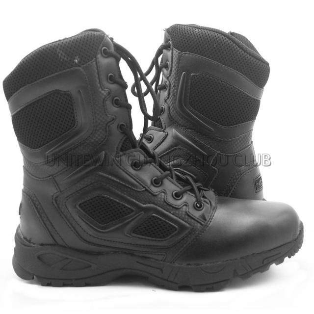 Botas tácticas de Combate Botas Los Hombres Zapatos Para Caminar Que Acampa Alpinismo Militar Negro Tamaño del EUR 39-45