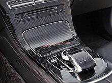 2 ШТ. ABS Интерьера Переключения Передач Shifter Панели Крышки Накладка Для Mercedes Benz 2015-2017 GLC X253
