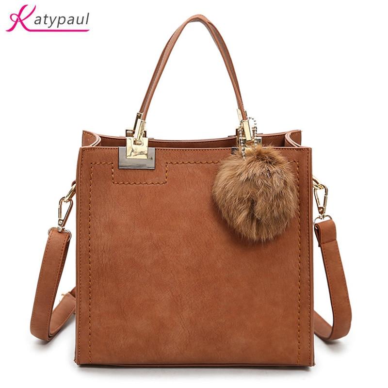 Hot Sale Nubuck Leather Women Top Handle Bags Brown Black Female Shoulder Bag Women Crossbody Bags