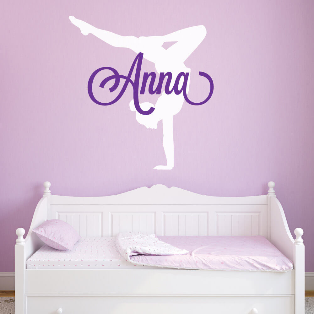 Gymnastics Wall Decals Custom Name Gymnastics Sticker ...