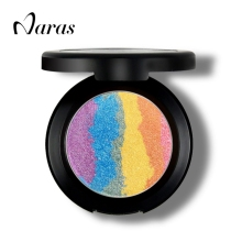 Naras Prism Rainbow Highlighter Blusher Eyeshadow 3 In 1 Makeup Palette Make Up Glow Kit Iluminador Maquiagem Shimmer Eye Shadow
