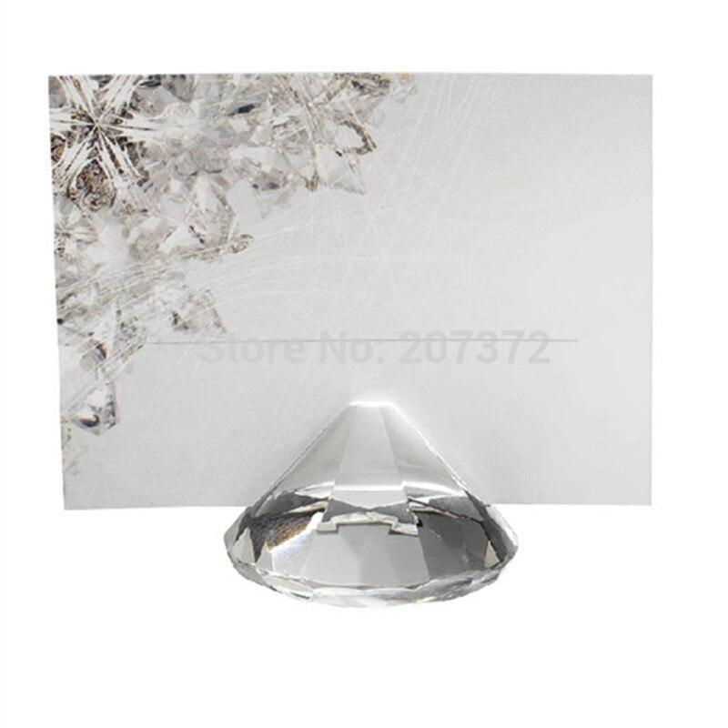 Kostenloser Versand 100 Stück / Los, Dia40mm Kristallkartenhalter - Wohnkultur - Foto 1