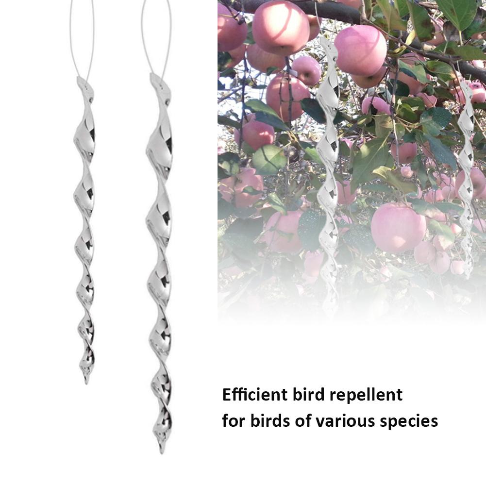 Bird Repellent  Windproof Pest Control 360 Degree Reflective Spiral Light with Sun Decoration Hanging Rope Kitchen Garden Supply