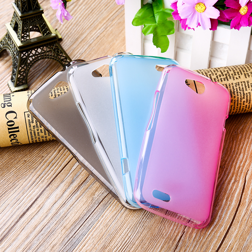 Cajas del teléfono de tpu suave de cristal para zte blade q lux 4g a430 4.5 ''ql