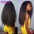 Hot Virgin Brazilian Full Lace Human Hair Wigs Kinky Yaki Glueless Full Lace Wigs Kinky Straight Lace Front Wig For Black Women