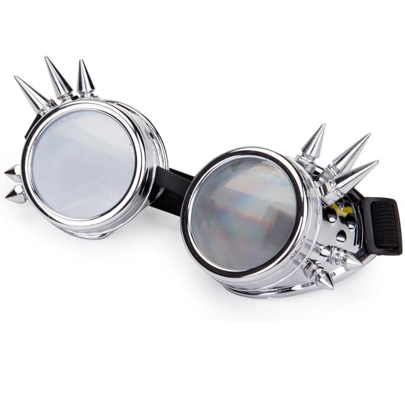 4efcba0b585 Dropwow FLORATA Diffraction Lens Rivet Steampunk Goggles Rave Festival  Party EDM Glasses Cosplay Punk Vintage Eyewear