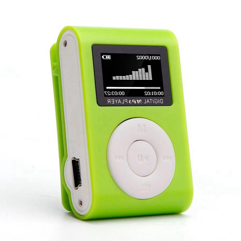 New Fashion Mini Mp3 USB Clip MP3 Player LCD Screen Support 32GB Micro SD TF CardSlick Stylish Design Sport Compact