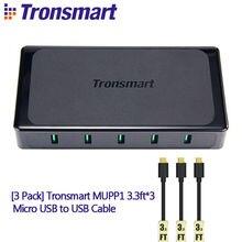 Tronsmart Titan UC5F 5 Ports Quick  2.0 USB Desktop Charger + MUPP1 3.3ft*3 Micro USB to USB Cable – Tronsmart UC5F QC2.0 Turbo