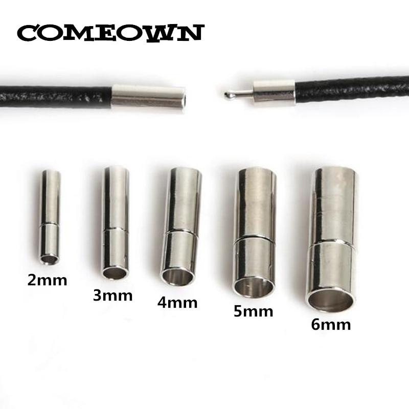 5pcs Cordon Cuir Fermoirs magnétiques pour À faire soi-même Bijoux Collier Bracelet Making 6 mm