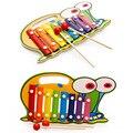 Juguetes de madera Para Niños de Instrumentos Musicaishand De Serinette Xilófono Animales Y Figuras Juguetes Para Bebés de 3 + Años de Edad 4 estilo