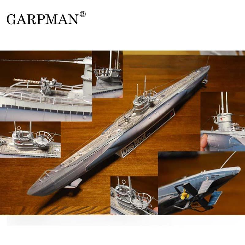 World War II German U Submarine  U-BOOT U96 3D Paper Model