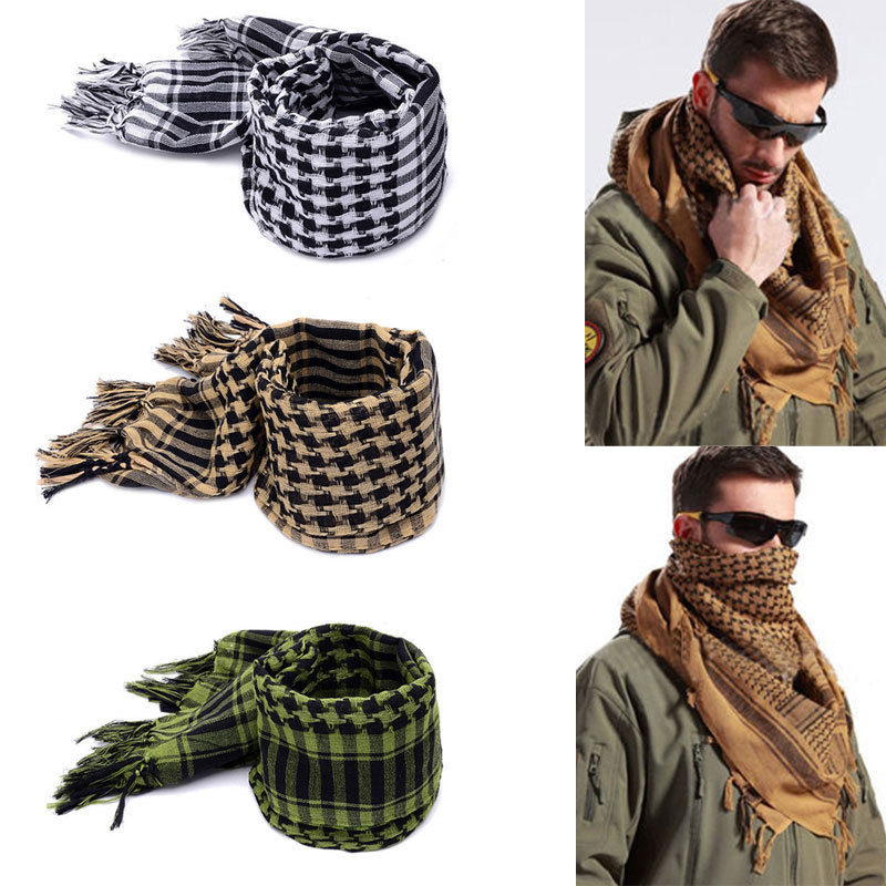 Fashion Women Men's Scarf Military Airsoft Tactical Arab Shemagh Kafiya Scarf Mask Wraps Hots