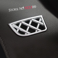 2 Matte Chrome Interior Dashboard Front Upper Air Vent Outlet Frame Cover Trim For Toyota Vios
