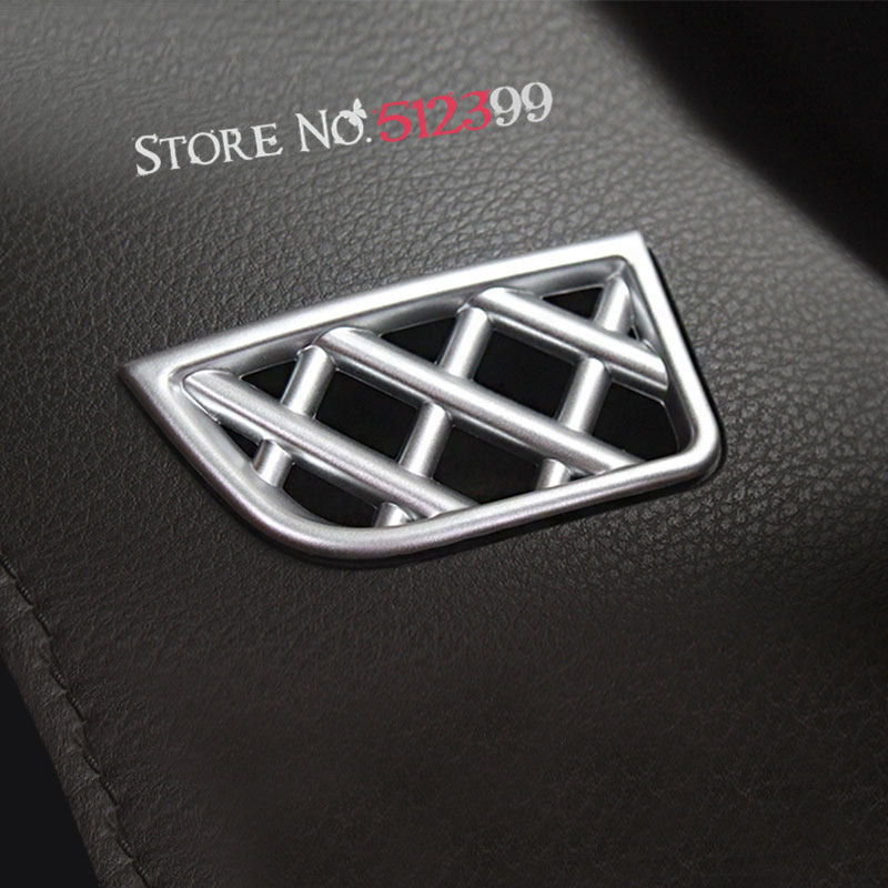 2* Matte Chrome Interior Dashboard Front Upper Air Vent Outlet Frame Cover Trim For Toyota Vios Yaris Sedan 2014 2015 2016 2017 2014 2016 chrome gate trim for toyota yaris chrome front grill cover tail gate trim for toyota yaris grille sedan part ycsunz