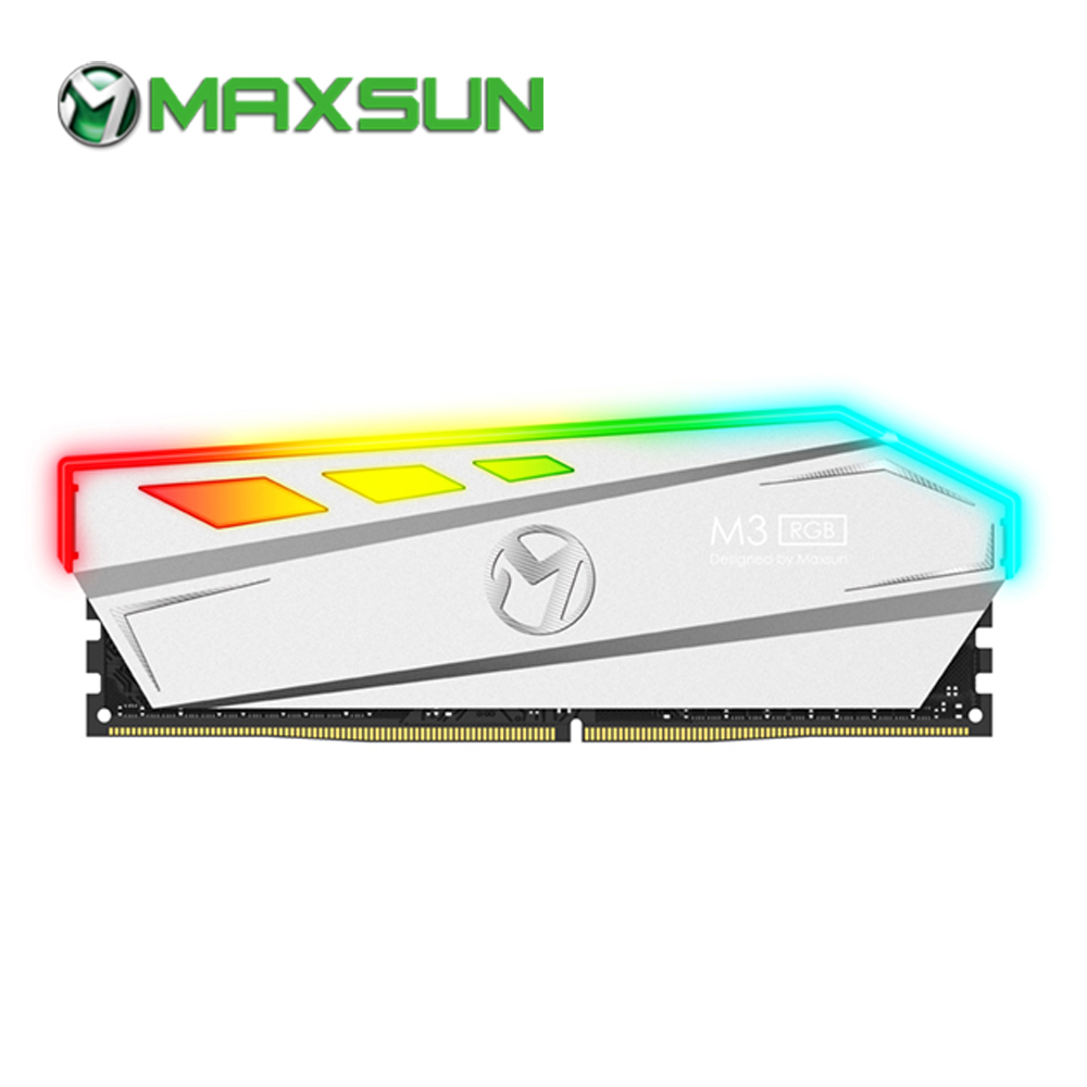 MAXSUN RAM DDR4 8GB/16GB Desktop Memory 2400MHz memory voltage 1.2V 17-17-17-39 Lifetime Warranty 288pin Flash Light Single RAMs