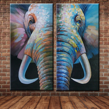 Big Size high quality  Modern Hand-painted home Decor elephant Oil Painting On Canvas Wall Art picture for Home No Framed