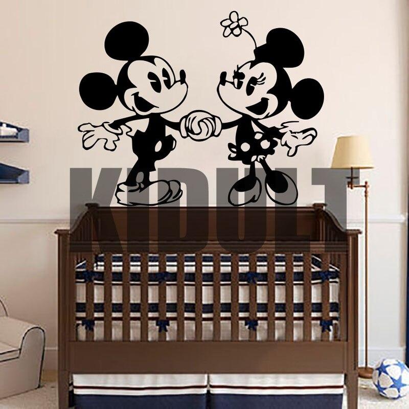 Cartoon Wall Stickers Mickey Mouse Cartoon Wall Decals Home Indoor