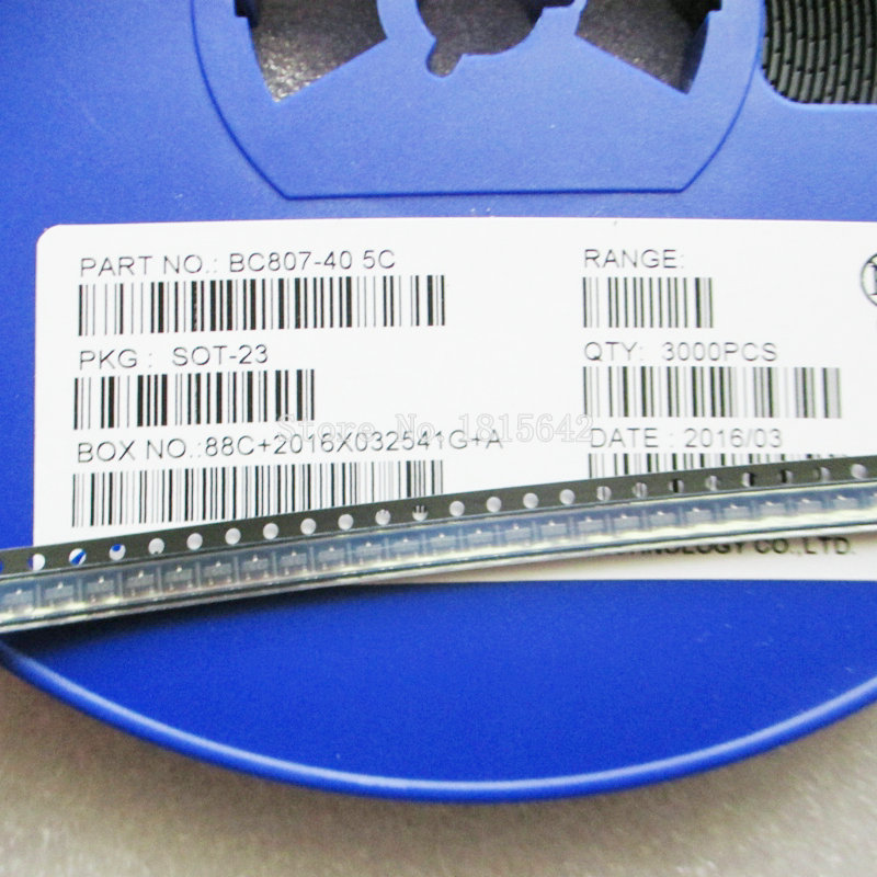 100PCS/LOT BC807-40 5C PNP 500MA 45V SOT-23 SMD Triode Transistor BC807-40LT1 BC807