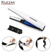 2018 New Professional Curler Iron Hair Straightener 2 In 1 Mini Ceramic Battery Portable Hair Styling