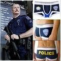 2015 High Quality Police Printting Sexy Cuecas Underwear Men's Underwear Boxers Cotton Underwear Policemmen Boxers Shorts  PLCP