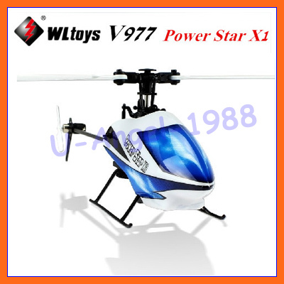 Newest Version!!!Free Shipping WL V977 6CH 2.4G RC Helicopter Power Star X1 Brushless Flybarless RC Helicopter have 3D 6G Mode wltoys v977 6ch 2 4g single blade rc helicopter 3d brushless flybarless wl v977 helicopter toy with 6 axis gyro free shipping