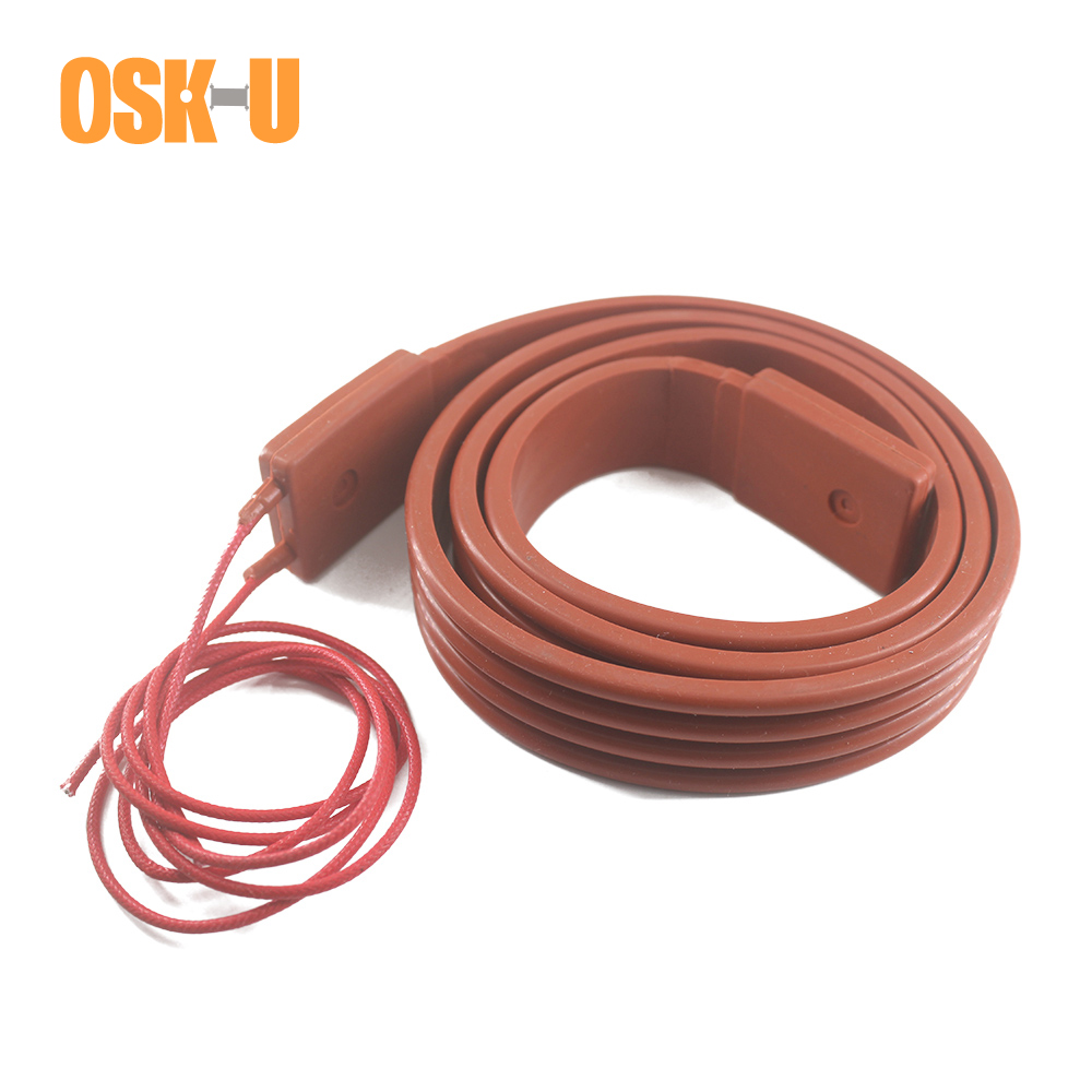 220V Silicon Heater Strip 15/25/30/50mm Width 1M Length Heater Band Anti-freezing Electric Heating Cable For Pipeline
