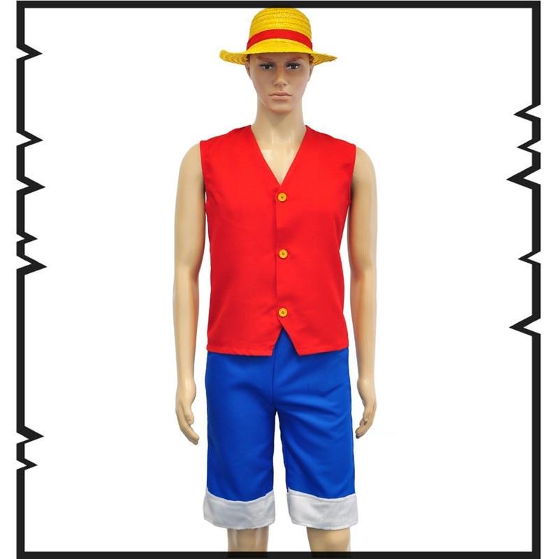 Ein Stück Cosplay Luffy Cosplay Red Herren Einteiler Cosplay Kostüm - Kostüme