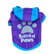 "Cute fashionable ""Santa Paws"" hooded sweatshirt"