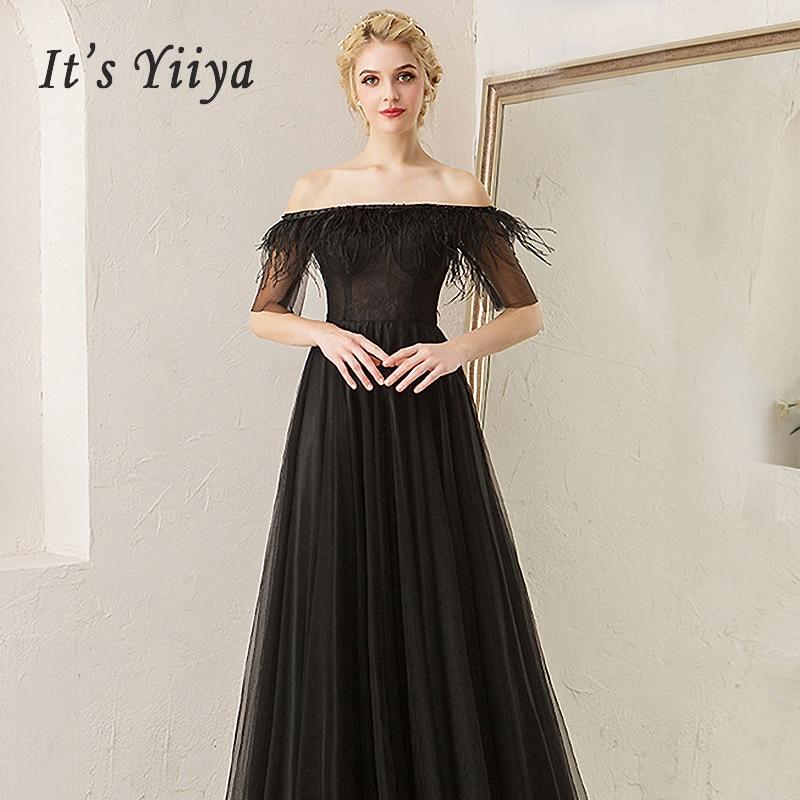 It's Yiiya Evening Dresses 2019 Boat Neck Women Party Dress Long Plus Size Backless Prom Dress Sleeveless Robe De Soiree E563