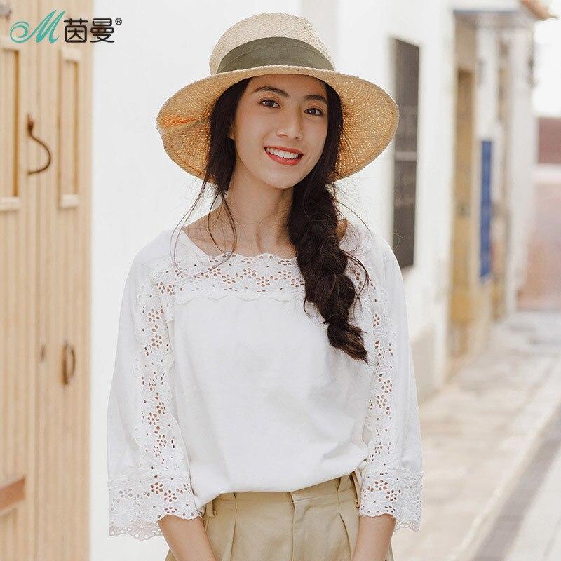 INMAN 2018 Spring Clothes T Shirt Women Round Neck