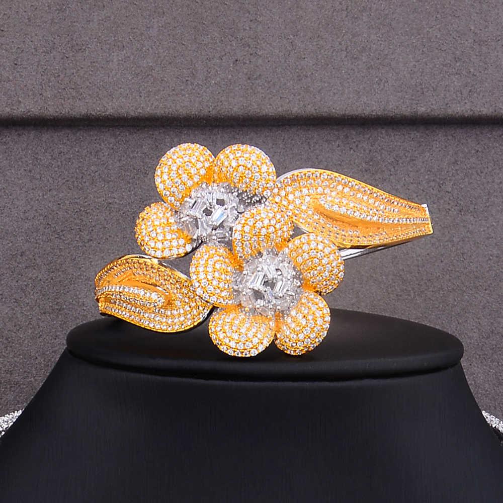 Missvikki Neue Design Charme 4PCS Armreif Ohrringe Ring Halskette Schmuck-Set für Frauen Braut Hochzeit Superstar Party Zeigen Schmuck