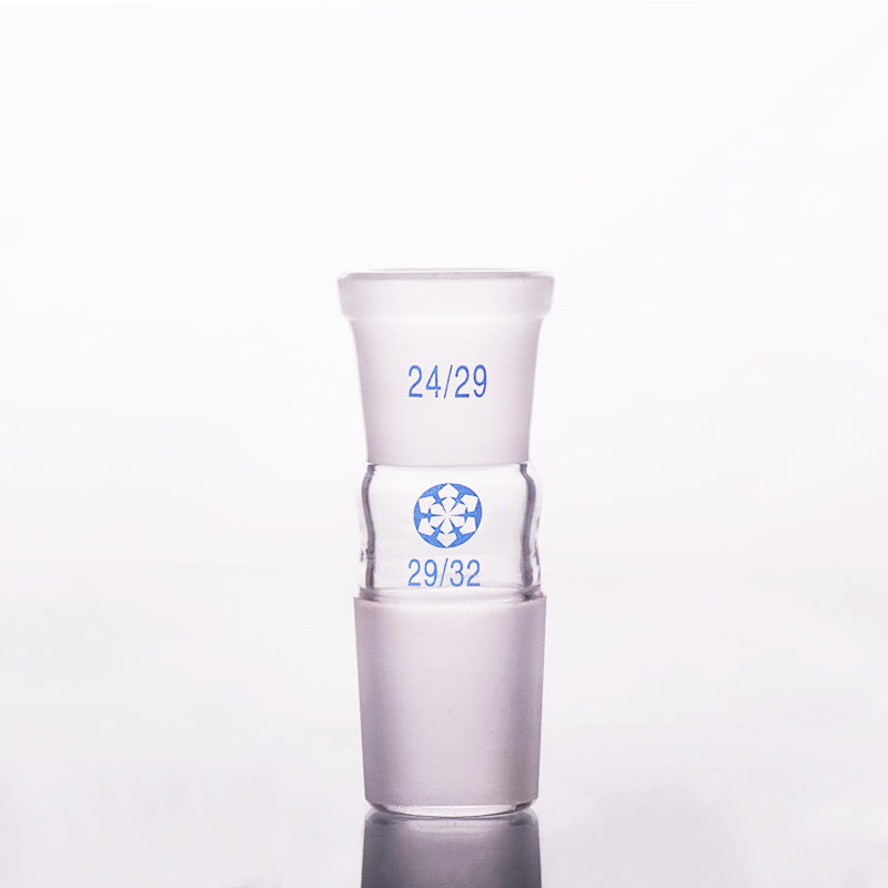Borosilicate Glass Joint,Female 24/29,Male 29/32,Glass reducing Adapter,A type connectorBorosilicate Glass Joint,Female 24/29,Male 29/32,Glass reducing Adapter,A type connector