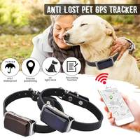 Bule/Red Smart GPS Pet Tracker Accurate Position Collar IP67 Waterproof Protection Realtime Tracker Anti Lost Tracking Alarm