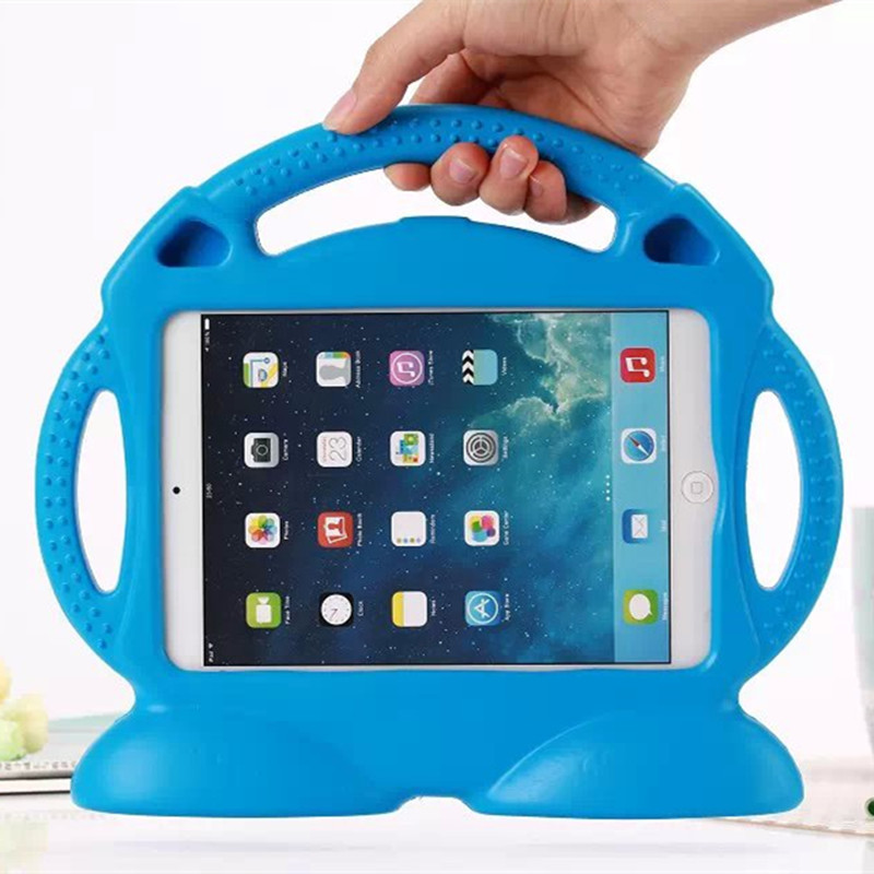 все цены на  Case for Apple ipad Mini 1 2 3 Thomas handgrip stand Shock Proof EVA cover Kids Children Safe Silicone para shell coque  онлайн