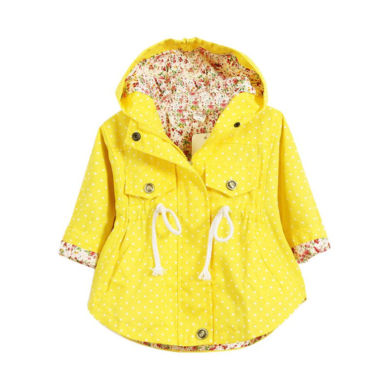 Pabby Store Autumn Jackets Girls Outerwear Coats Trench Girls Hoody Jackets Children Coat Spring YTUB0
