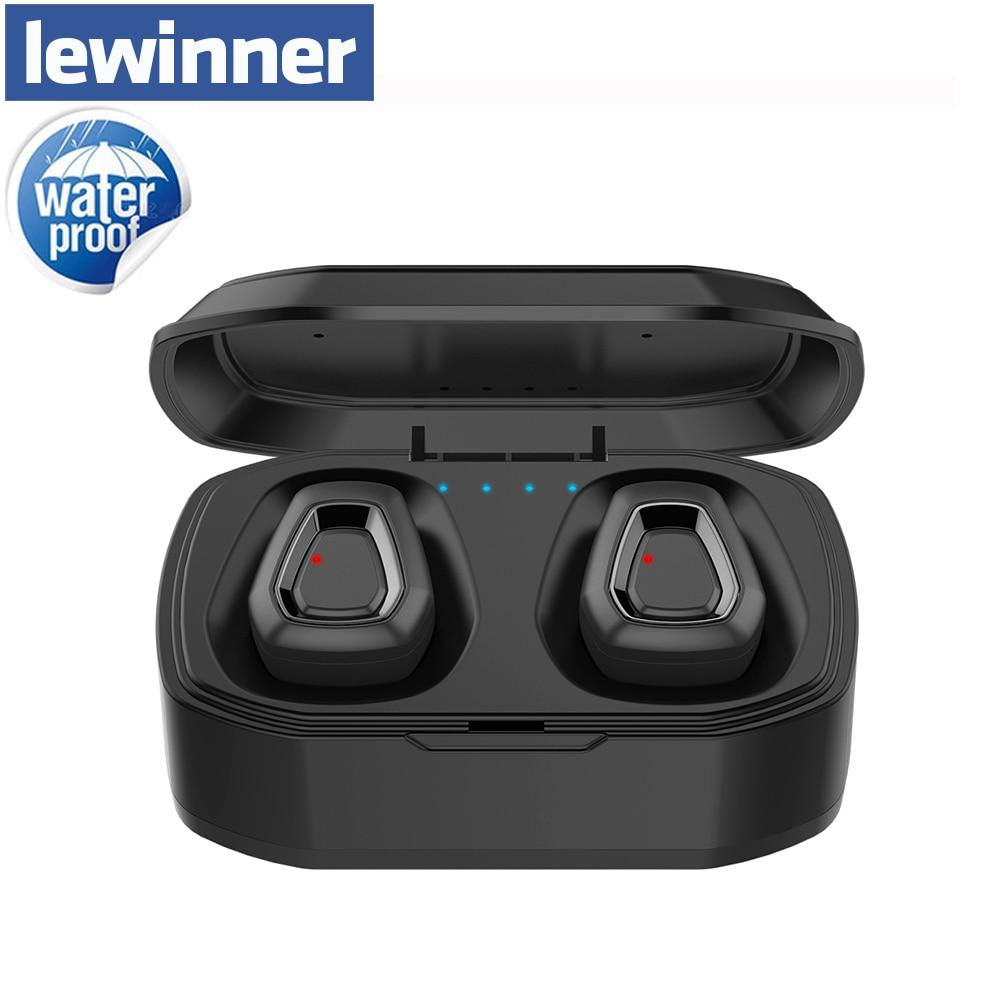 Lewinner neue Bluetooth 4,2 Hifi Kopfhörer mit dual Mic, a7 TWS Drahtlose Ohrhörer Stereo Mikrofon für Telefon Mit Ladegerät Box