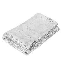 Rectangular Sequin Tablecloth Glitz Silver Sequin Table Cloth For Wedding  Party Decoration