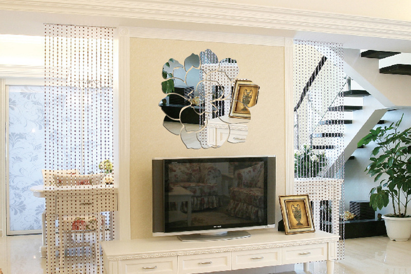 Gut Amazing Moderne Kreative Acryl Hintergrund Wand Stick Lotus Tv Wand Acryl  Spiegel Wohnzimmer Dekoration In Moderne Kreative Acryl With Moderne  Spiegel Fr ...