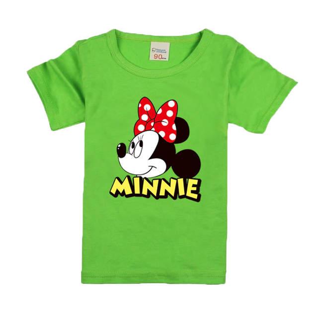 placeholder Meninas de Manga Curta Camisas de T Para Crianças 2017 Minnie  Mouse T-shirt de 7873da0f92d