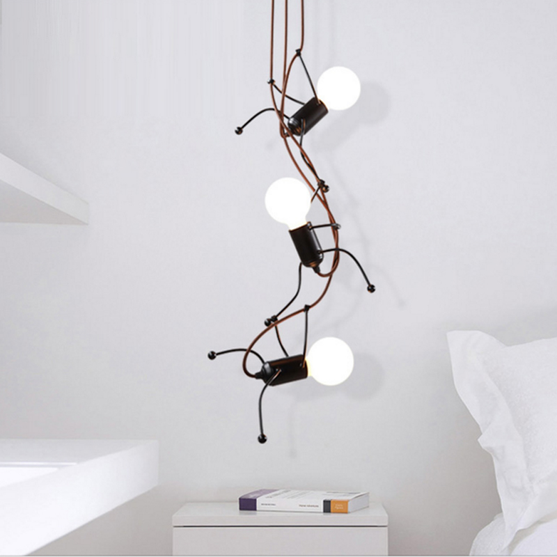 Creative personality simple modern living room bedroom bedside Pendant Lights art villain corridorsboy room lighting study lamp a1 led living room dining modern pendant lights ring fashion personality creative pendant lamp art bedroom hall pendant lamps