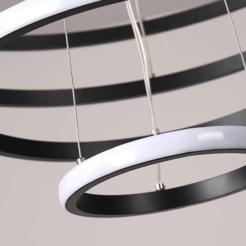 Новое поступление, современный светодиодный подвесной светильник для гостиной, столовой, кухни, светильники AC110V 220 V, круглые подвесные светильники