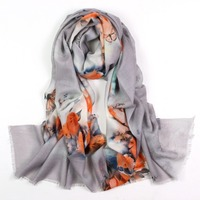2017 Fashion Australia Wool Print Colourful Scarves Women Spring 100 Cashmere Scarves Shawl Ladies Warm Wraps