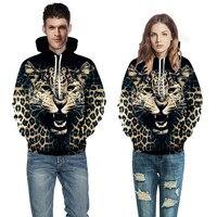 Hip Hop Funny Clothing 3D Galaxy Digital Printing Realistic Leopard Hoodies Mens Women Boys And Harajuku