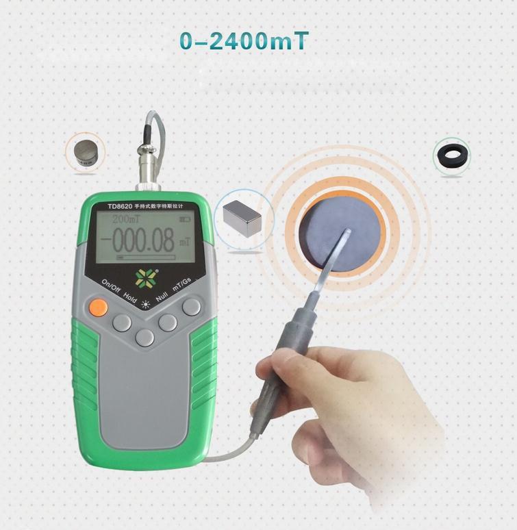 497abb6c6a3 Digital Gaussmeter EMF Tester Medidor de Gauss Handheld Ímã Permanente do Campo  Magnético da Superfície Testador